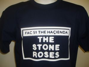 MENS RETRO MADCHESTER `HACIENDA FAC 51 THE STONE ROSES` T-SHIRT